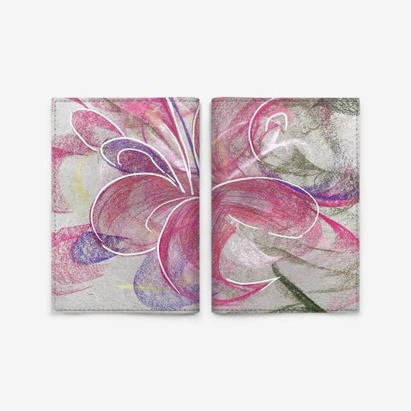 Обложка для паспорта «Цветок с Бали»
