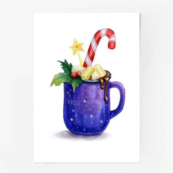 Постер «Горячий шоколад в кружке»