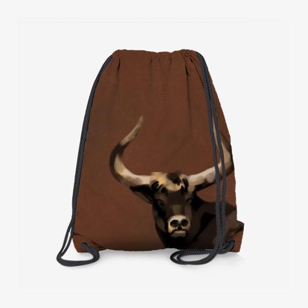 Рюкзак «Бык пастелью»