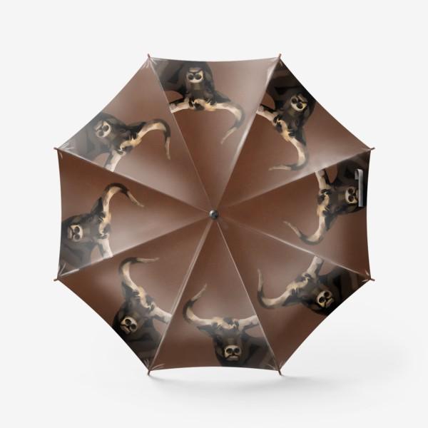 Зонт «Бык пастелью»