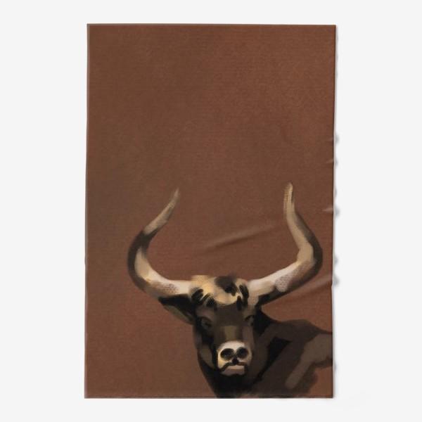 Полотенце «Бык пастелью»