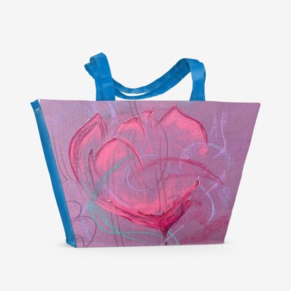 Пляжная сумка «Девушка - цветок»