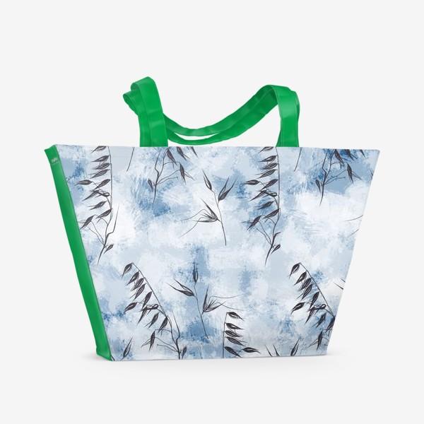 Пляжная сумка «Снежные колоски»