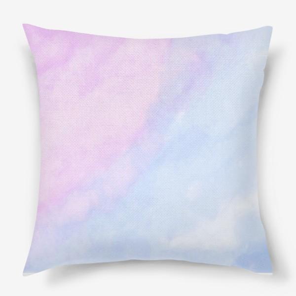 Подушка «Акварельные облака»