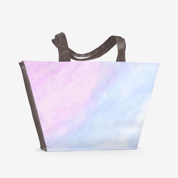 Пляжная сумка «Акварельные облака»