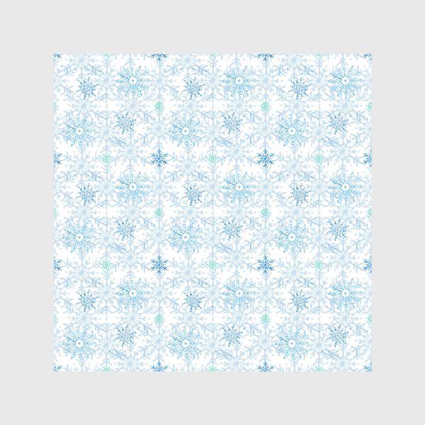 Шторы «Голубые снежинки»