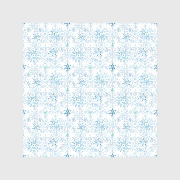 Скатерть «Голубые снежинки»