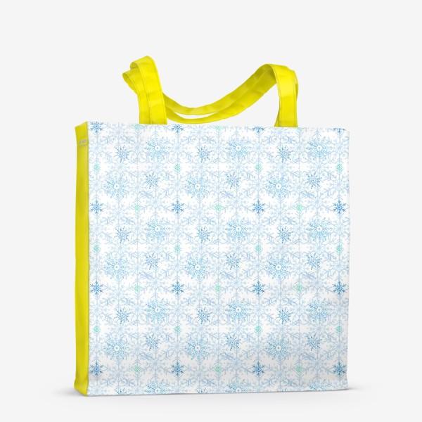 Сумка-шоппер «Голубые снежинки»