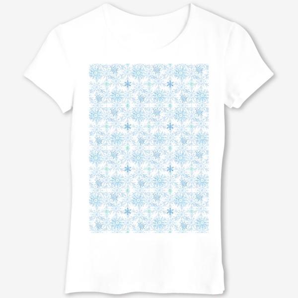 Футболка «Голубые снежинки»