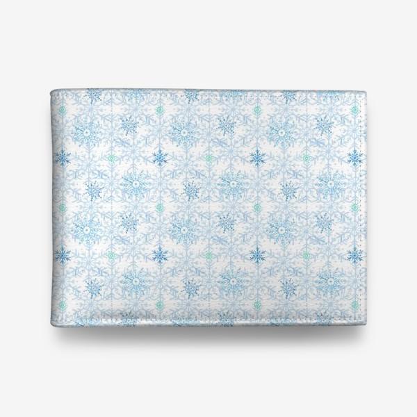 Кошелек «Голубые снежинки»