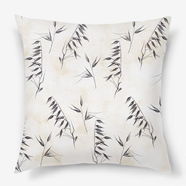 Подушка «Колоски графичный паттерн»