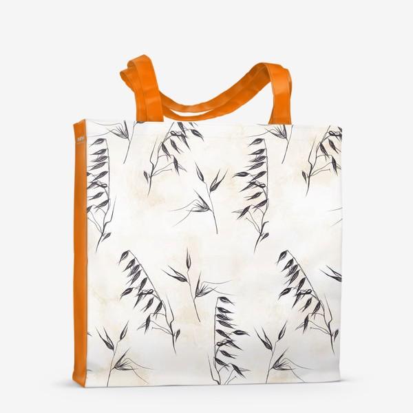Сумка-шоппер «Колоски графичный паттерн»