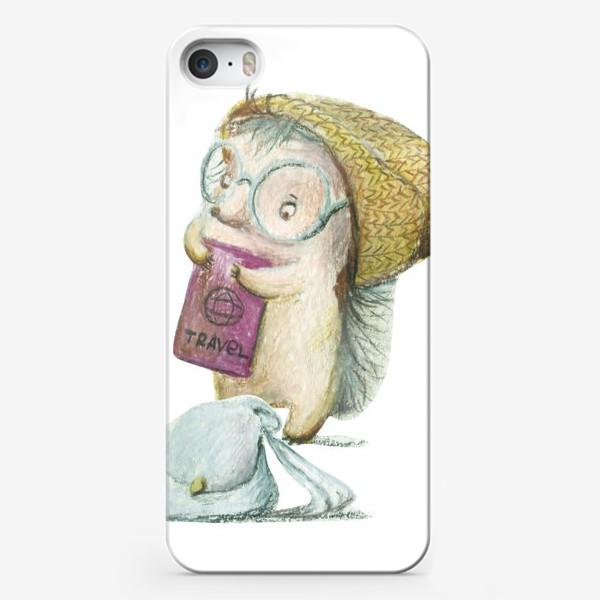 Чехол iPhone «Ежик-путешественник»