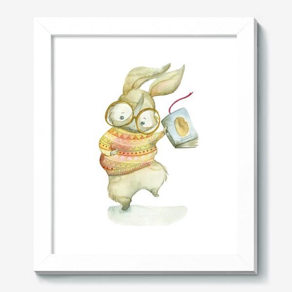 Картина «Зайчик-книги-читайчик»