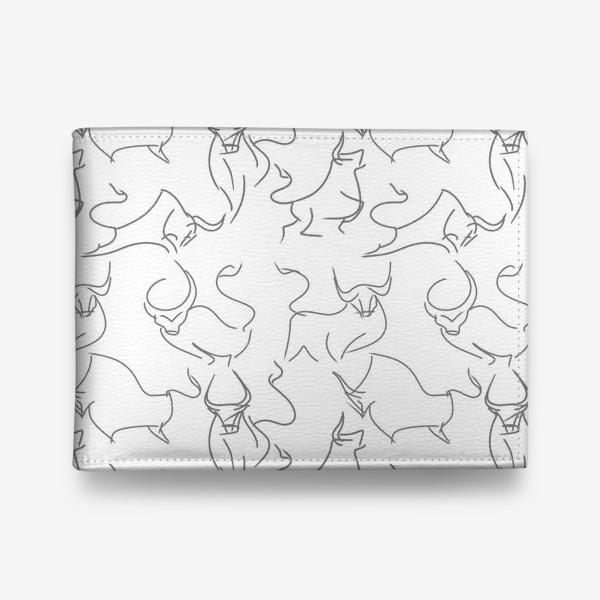 Кошелек «Паттерн быки на белом»