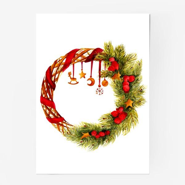 Постер «Новогодний венок»