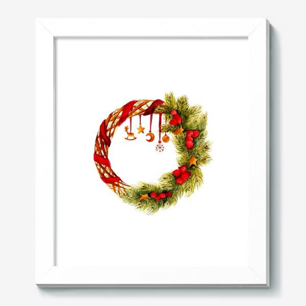 Картина «Новогодний венок»