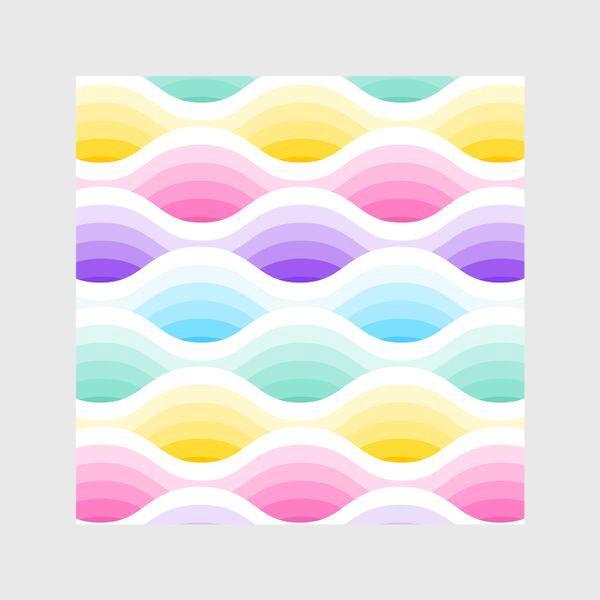 Шторы «Радужно-единороговые волны»