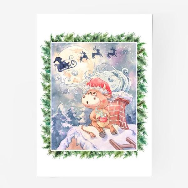 Постер «Бычок и Санта Клаус»