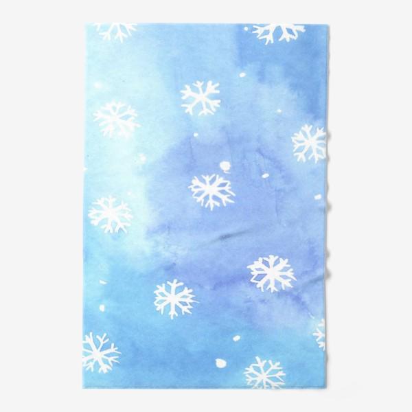 Полотенце «снежный паттерн»