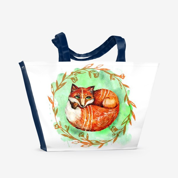 Пляжная сумка «Лиса летняя»