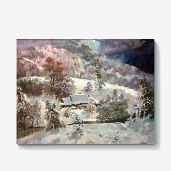 Холст «В снежном плену»