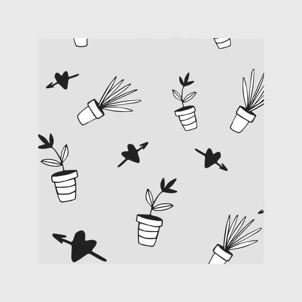 Скатерть «Цветы в горшках  милый принт»
