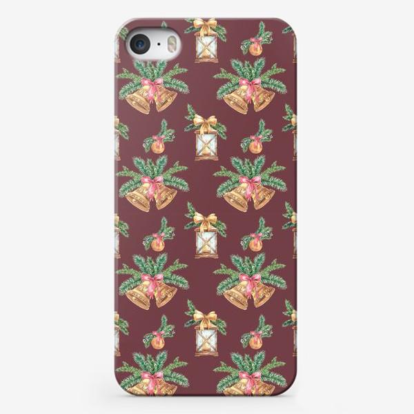 Чехол iPhone «Новый год в бордо»