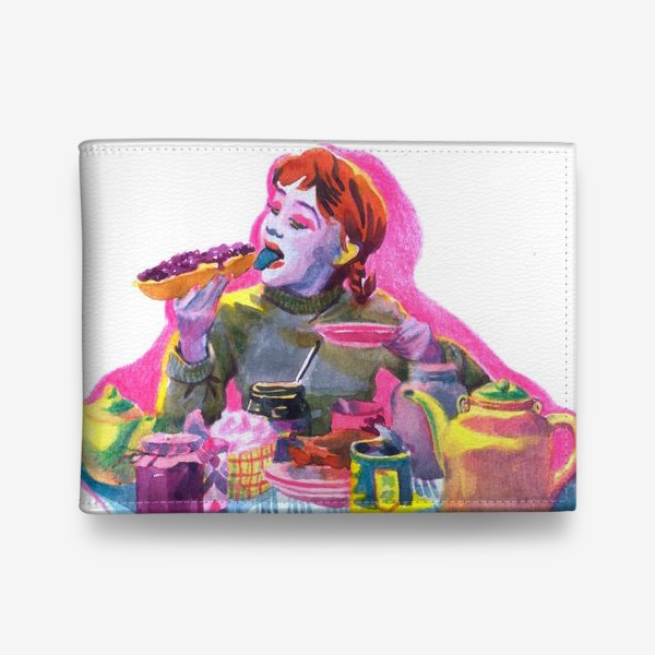 Кошелек «Поп-арт, завтрак , еда ,кино»
