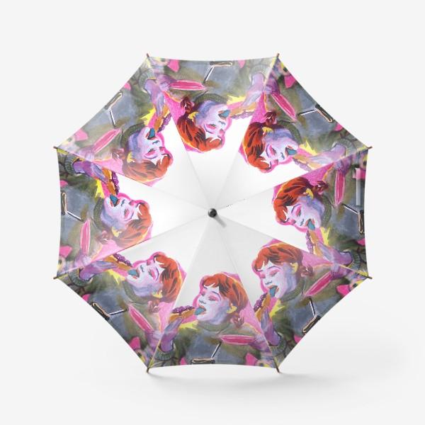 Зонт «Поп-арт, завтрак , еда ,кино»