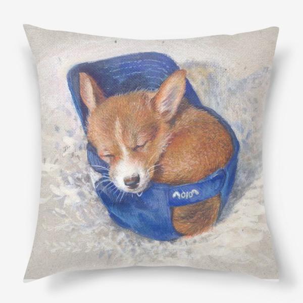 Подушка «Малыш корги . щенок ,подарок»