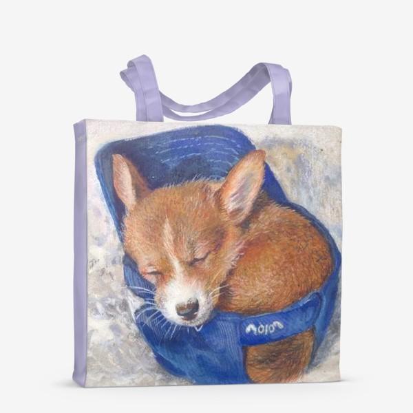 Сумка-шоппер «Малыш корги . щенок ,подарок»