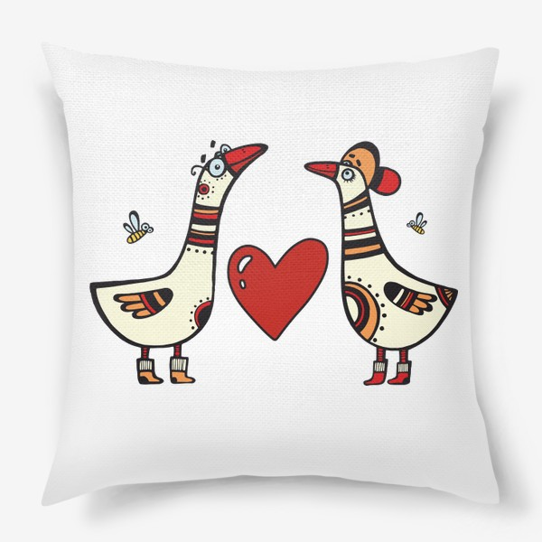Подушка «два веселых гуся»