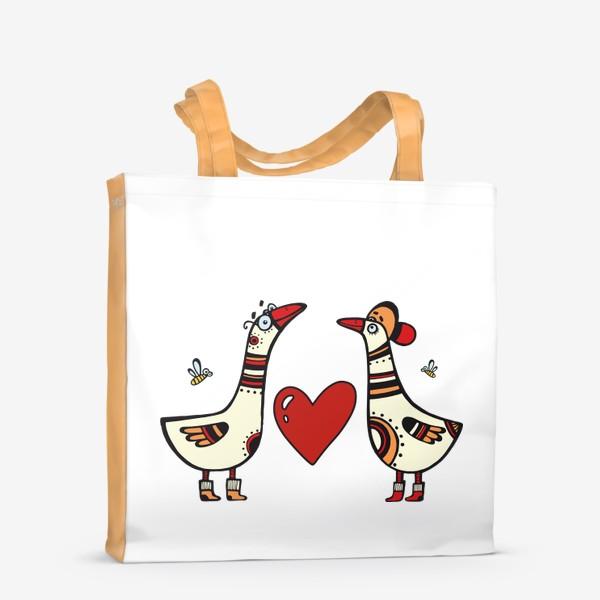 Сумка-шоппер «два веселых гуся»
