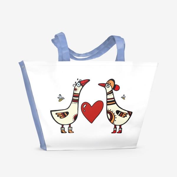 Пляжная сумка «два веселых гуся»