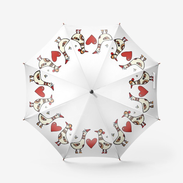 Зонт «два веселых гуся»