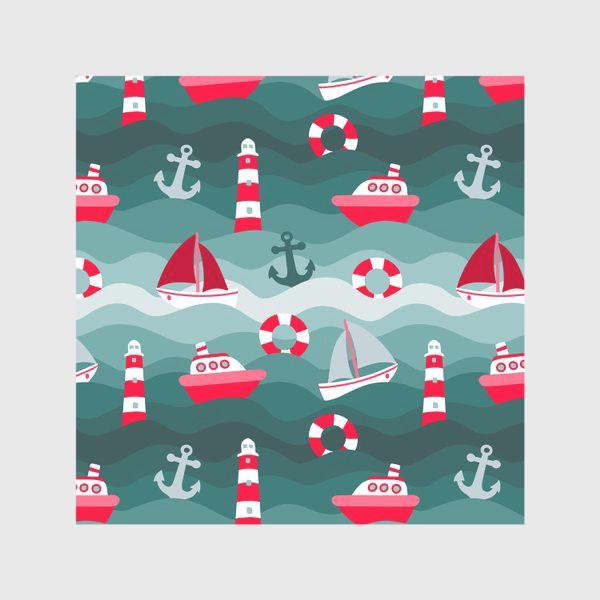 Скатерть «Морской детский принт»