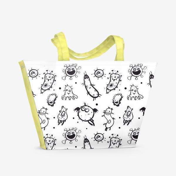 Пляжная сумка «Маленькие вирусы»