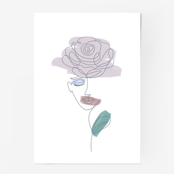 Постер «Девушка роза. Непрерывная линия»