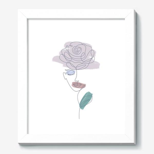 Картина «Девушка роза. Непрерывная линия»