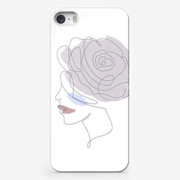 Чехол iPhone «Девушка роза 2. Непрерывная линия»