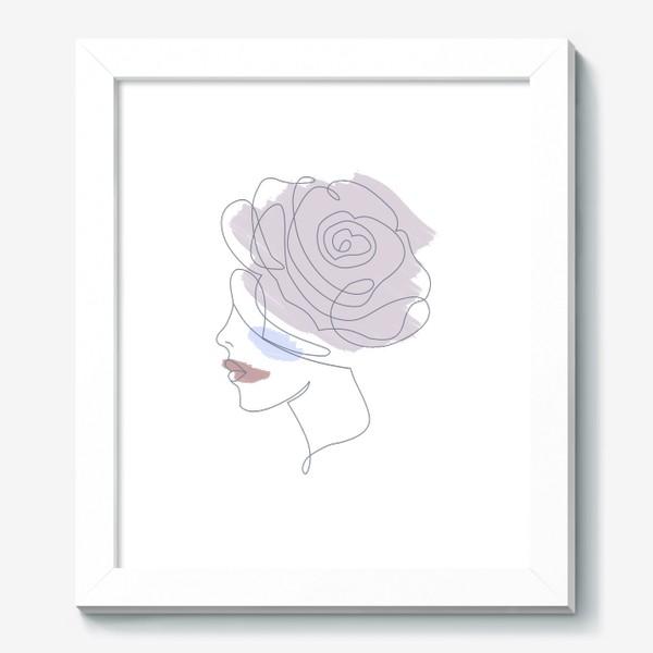 Картина «Девушка роза 2. Непрерывная линия»
