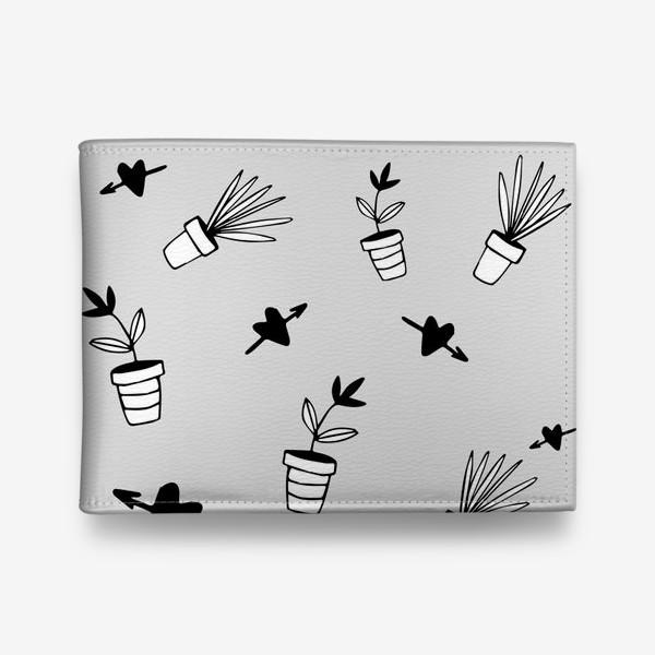 Кошелек «Цветы в горшках  милый принт»