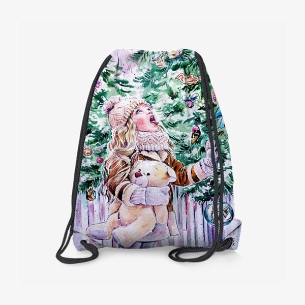 Рюкзак «девочка со снежинками»