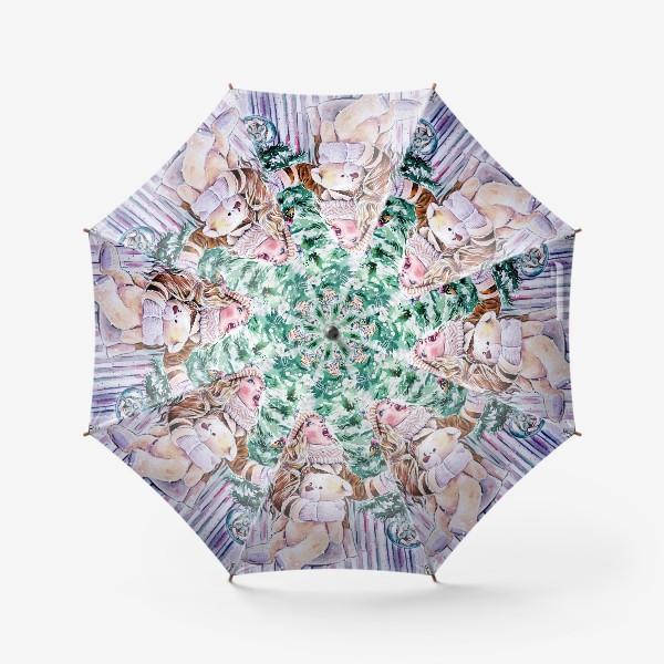 Зонт «девочка со снежинками»