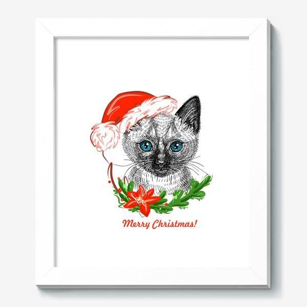 Картина «Новогодний котенок»