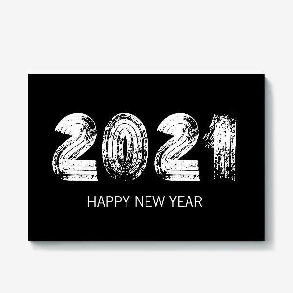 Холст «2021 в черном»