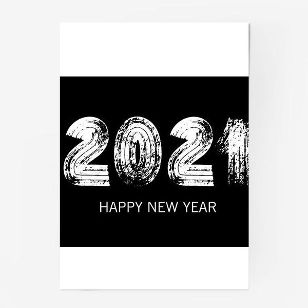 Постер «2021 в черном»
