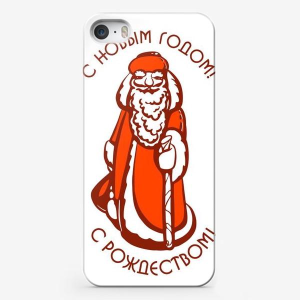 Чехол iPhone «Советский Дедушка Мороз»