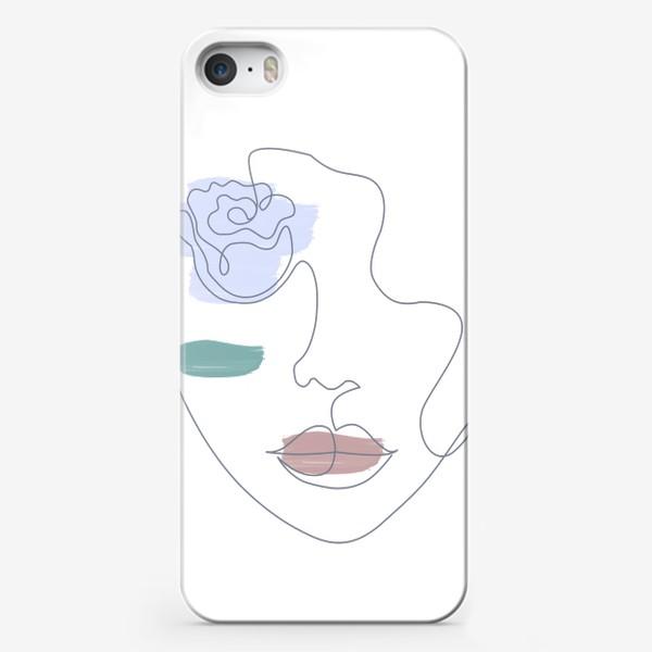 Чехол iPhone «Девушка роза 3. Непрерывная линия»